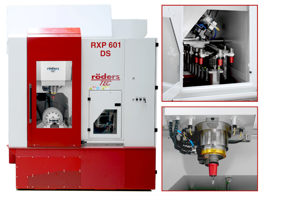 Röders RXP601DS mit Mediumverteiler und Detailausschnitten
